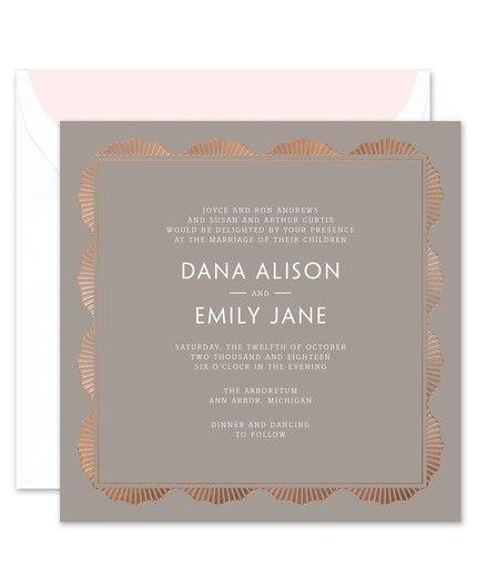 Radiant Gray Invitation