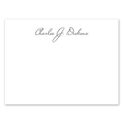 White Script Flat Card