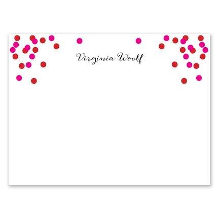 Pink Confetti Flat Card