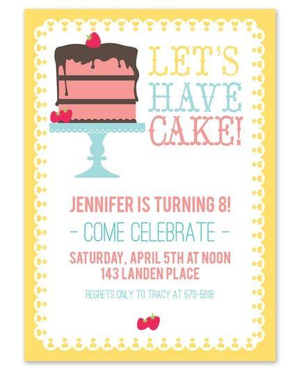 Let's Have Cake! Invitation