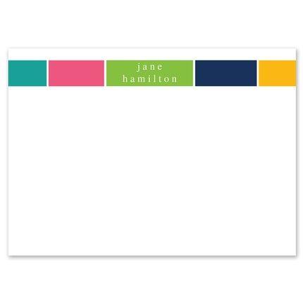 Block Stripe Flat Card