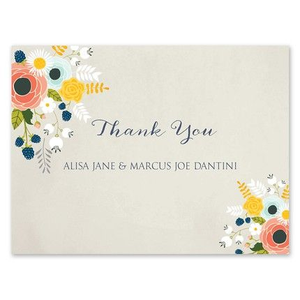 Floral Whimsy Note Card