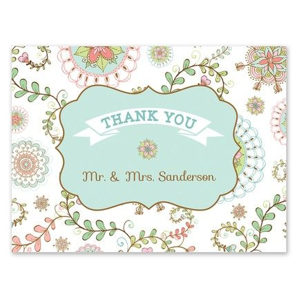 Floral Paisley Note Card