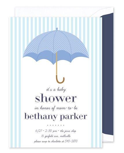 Stripe Umbrella Invitation