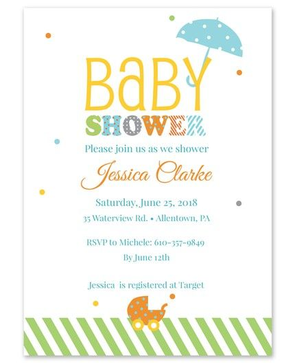 Carriage Shower Invitation