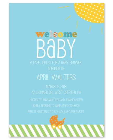 Polka Dot Ray Invitation