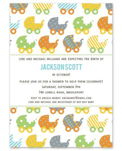 Carriage Pattern Invitation