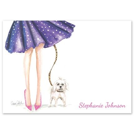 Polka Me Puppy Flat Card