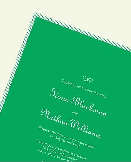 Green Stripe Invitation