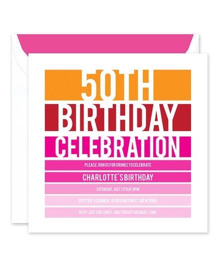Birthday Stripes Invitation