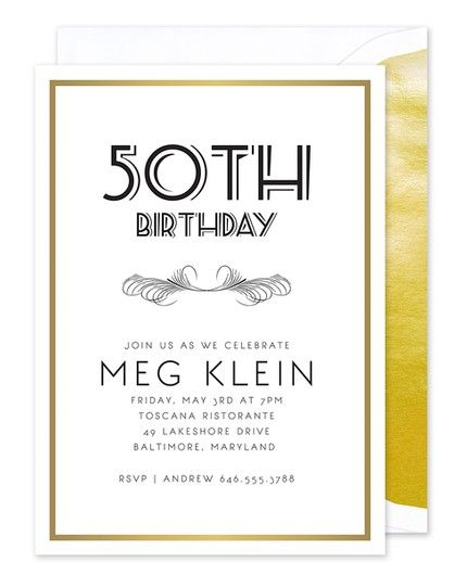 Golden Birthday Invitation
