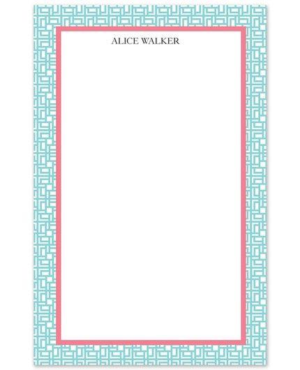 Blue Lattice Note Pad