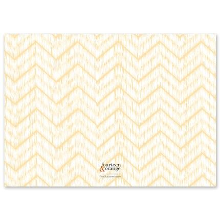 Blended Chevron Flat Card