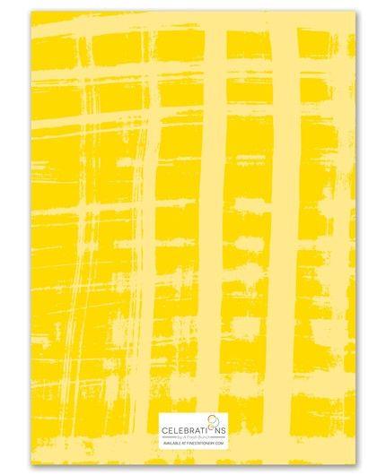 Abstract Plaid Invitation
