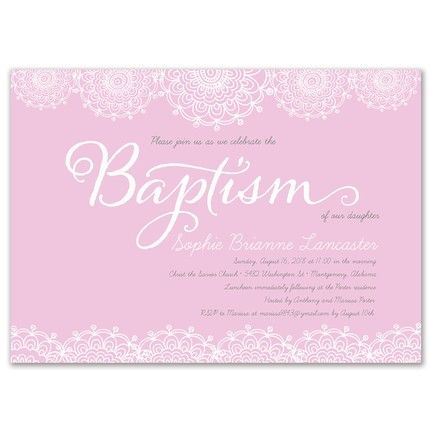Pink Lace Invitation