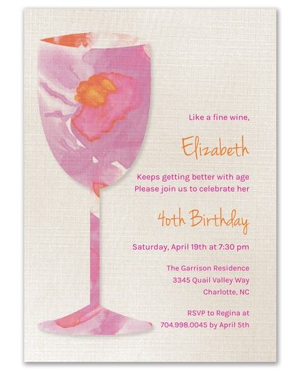 Watercolor Glass Invitation