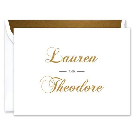 White Note Card