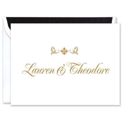Formal White Note Card