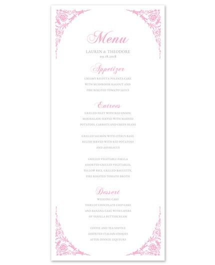 Corner Scroll Menu Card