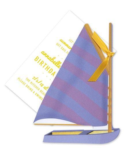 Sail Boat Invitation
