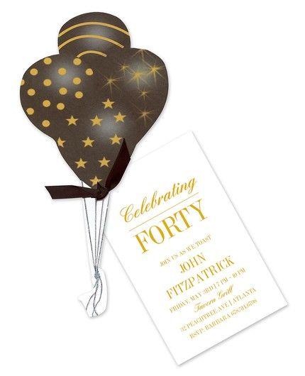 Balloon Bouquet Invitation
