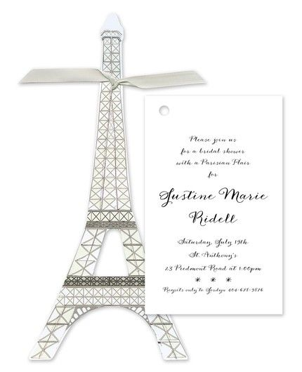 Eiffel Tower Invitation