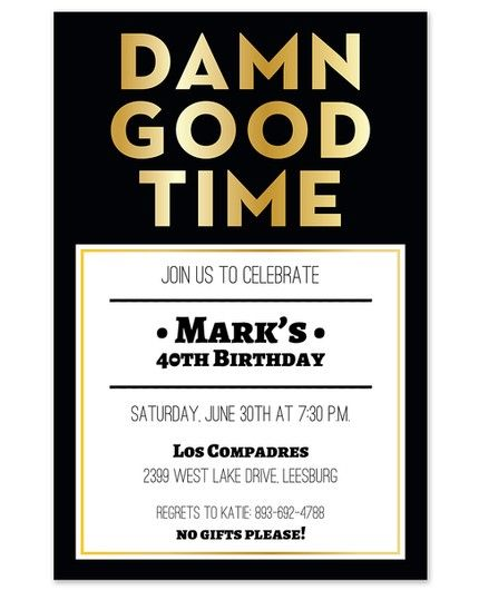 Good Time Invitation