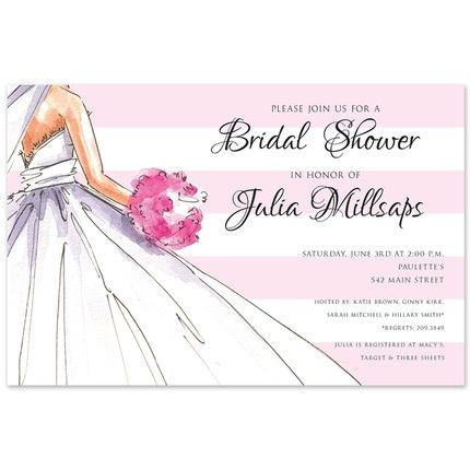 Watercolor Bride Invitation