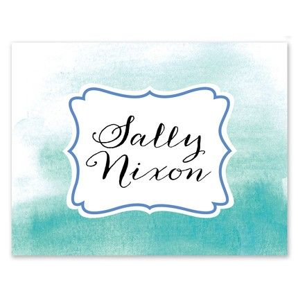 Cool Ombre Note Card