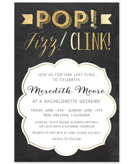 Pop Fizz Clink Invitation