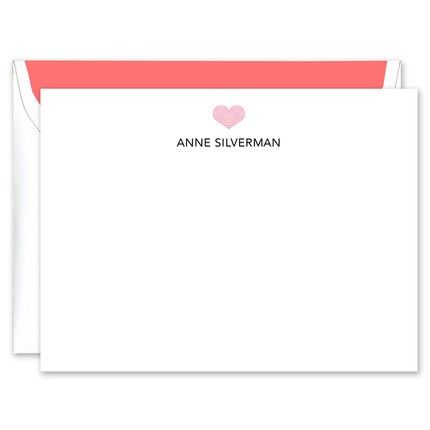 Red Deco Heart Flat Card