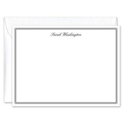 Black Deco Border Flat Card