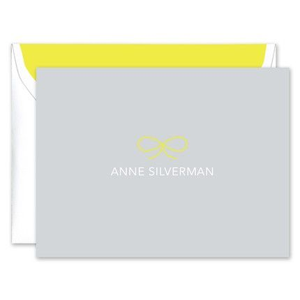 Fluoro Citron Bow Note Card