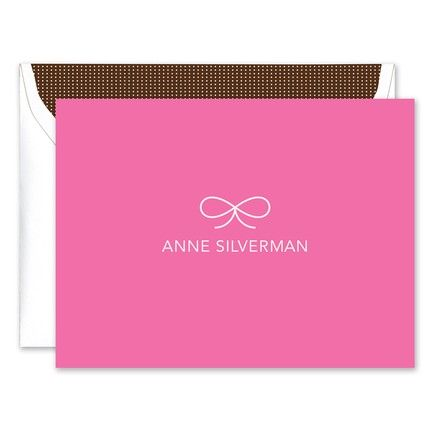 Pink Bow Note Card