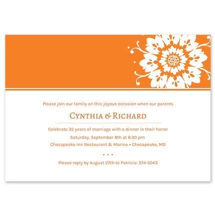 Sunburst Invitation