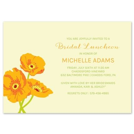 Orange Flower Invitation