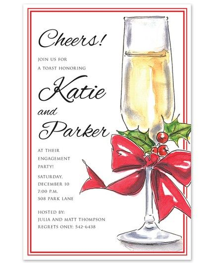 Holiday Champagne Invitation