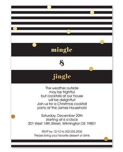 Mingle & Jingle Invitation