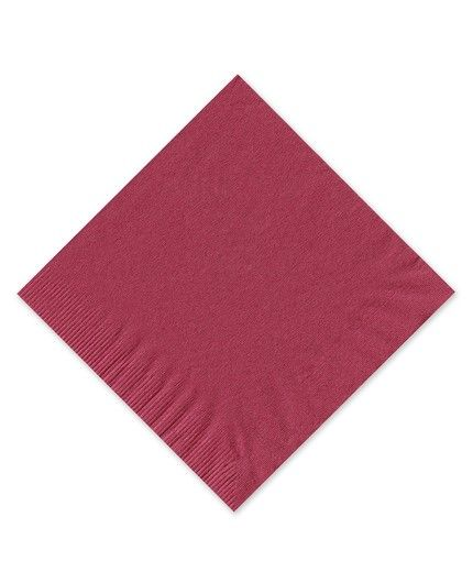 Burgundy Beverage Napkin