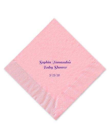 Classic Pink Beverage Napkin