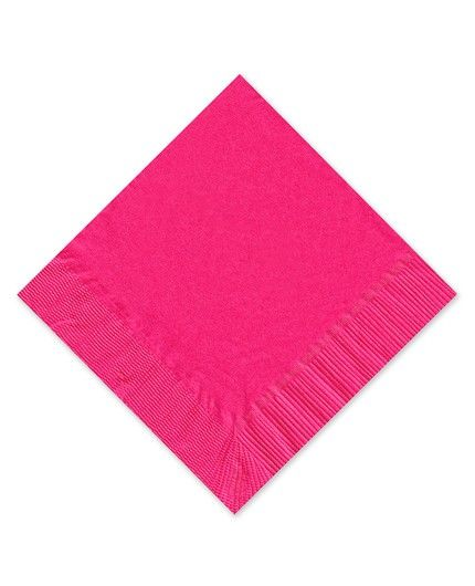 Hot Pink Beverage Napkin