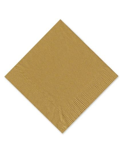Gold Beverage Napkin