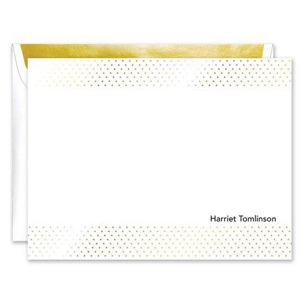 Gold Foil Dot Flat Card