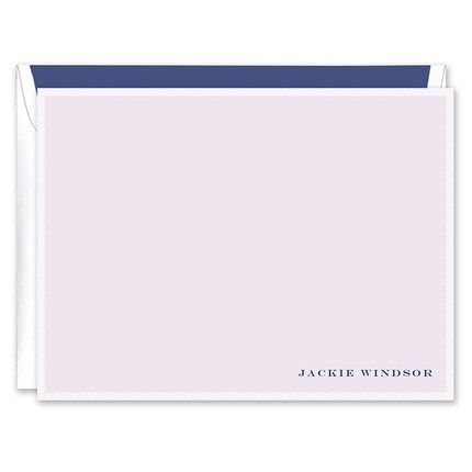 Lavender & White Flat Card