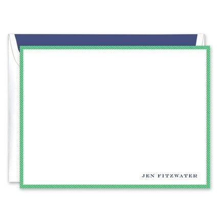 Green & White Flat Card