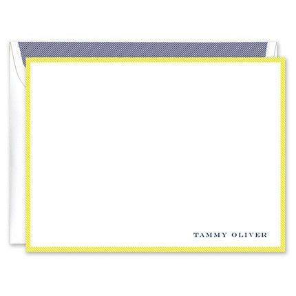 Citron & White Flat Card