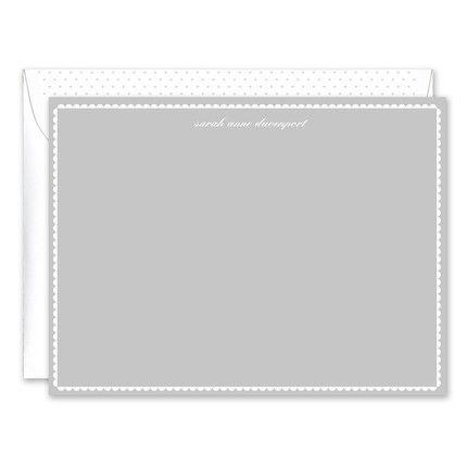 Gray Scallop Flat Card