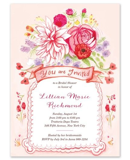Floral Whimsy Invitation