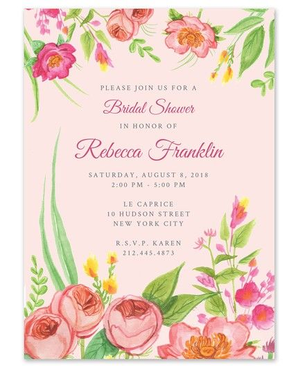 Bridal Blossoms Invitation