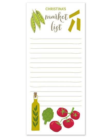 Farmer's Market Note Pad